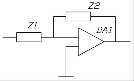 схема активного полосового